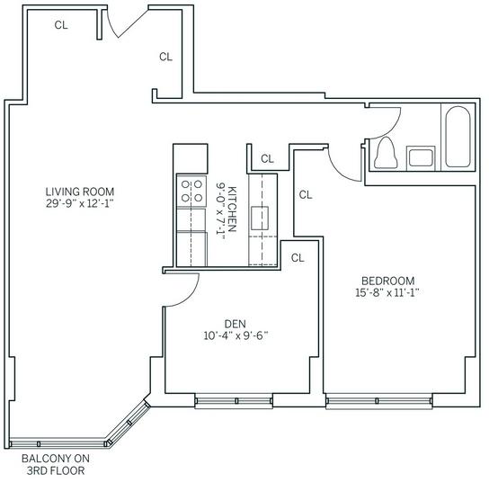 2 Bedrooms, Newport Rental in NYC for $2,865 - Photo 2