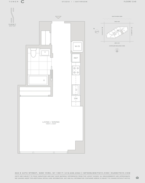 Studio, Turtle Bay Rental in NYC for $3,630 - Photo 2