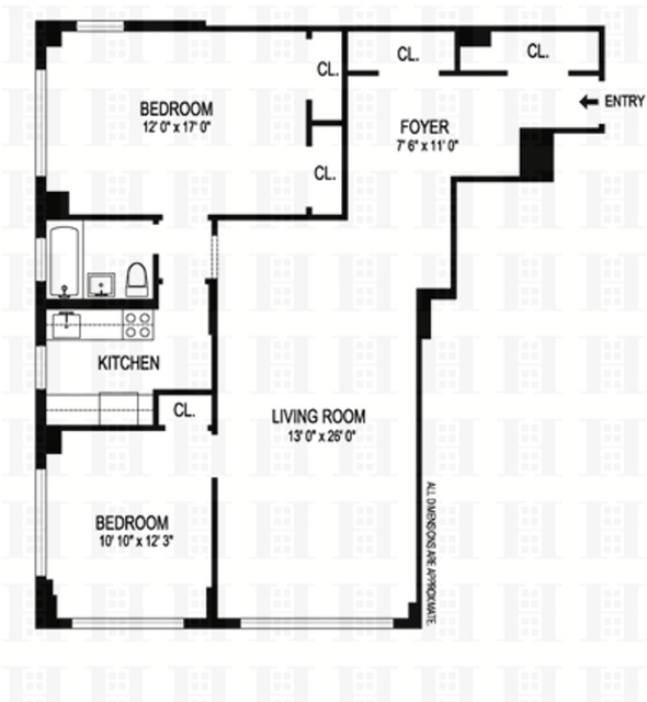 2 Bedrooms, Gramercy Park Rental in NYC for $5,495 - Photo 2