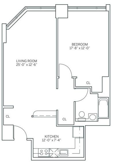 1 Bedroom, Newport Rental in NYC for $2,785 - Photo 2