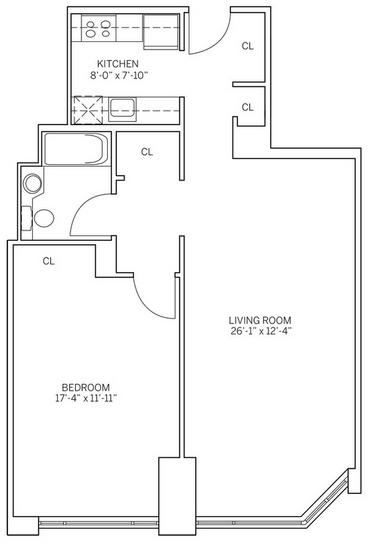 1 Bedroom, Newport Rental in NYC for $2,860 - Photo 2