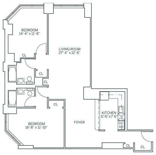 2 Bedrooms, Newport Rental in NYC for $3,780 - Photo 2
