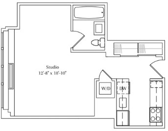 Studio, Lincoln Square Rental in NYC for $3,233 - Photo 2