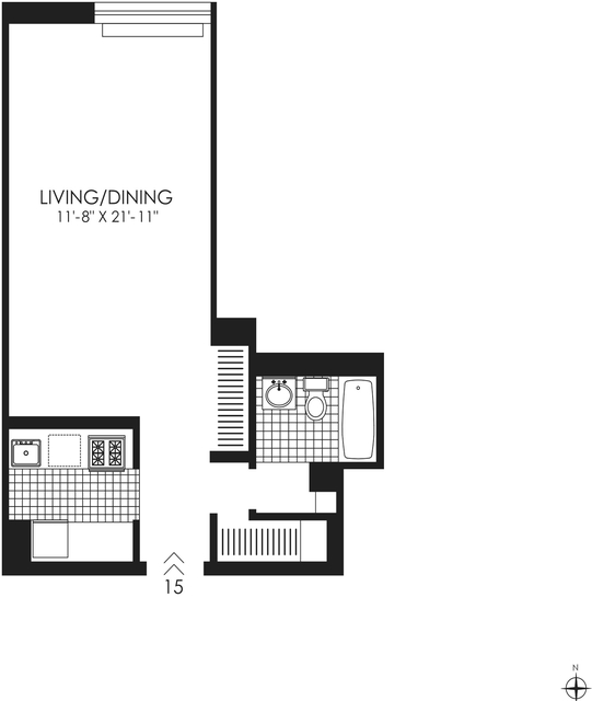 Studio, West Village Rental in NYC for $3,795 - Photo 2