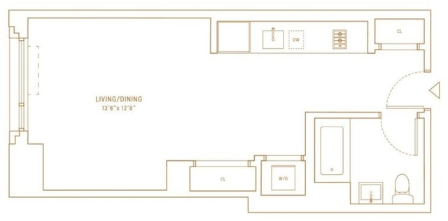 Studio, Hell's Kitchen Rental in NYC for $3,040 - Photo 2