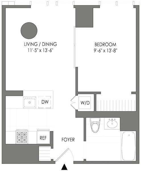 1 Bedroom, Long Island City Rental in NYC for $3,246 - Photo 2