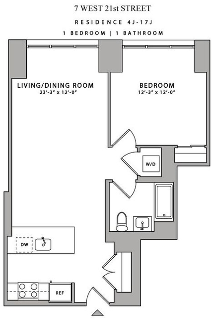 1 Bedroom, Flatiron District Rental in NYC for $5,850 - Photo 2