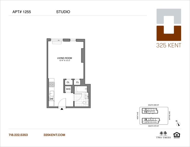 Studio, Williamsburg Rental in NYC for $2,645 - Photo 2
