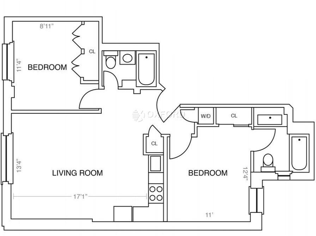 2 Bedrooms, Upper West Side Rental in NYC for $5,492 - Photo 2