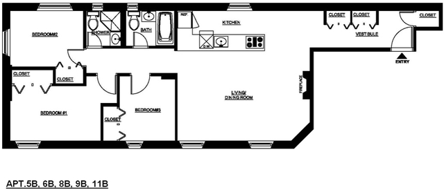 3 Bedrooms, Two Bridges Rental in NYC for $6,995 - Photo 2