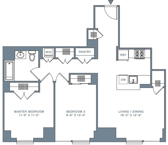 2 Bedrooms At 33 Gold Street For Posted May-05-2018