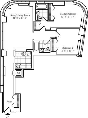 2 Bedrooms, Lincoln Square Rental in NYC for $6,261 - Photo 2