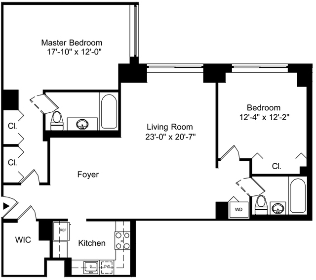 2 Bedrooms, Battery Park City Rental in NYC for $7,095 - Photo 2
