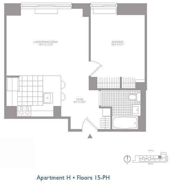1 Bedroom, Civic Center Rental in NYC for $3,529 - Photo 2