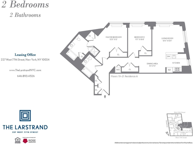 2 Bedrooms, Upper West Side Rental in NYC for $10,550 - Photo 2