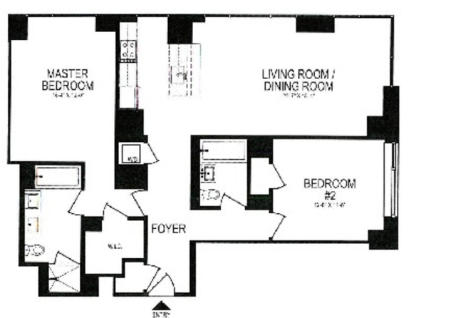 2 Bedrooms, Battery Park City Rental in NYC for $8,599 - Photo 2