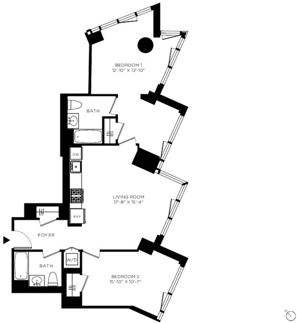 2 Bedrooms, Hell's Kitchen Rental in NYC for $7,486 - Photo 2