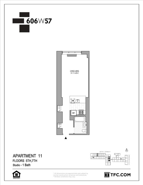 Studio, Hell's Kitchen Rental in NYC for $3,035 - Photo 2