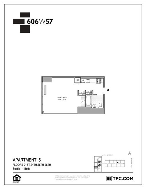 Studio, Hell's Kitchen Rental in NYC for $3,181 - Photo 2
