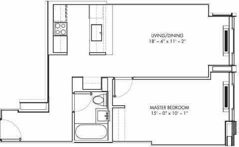 1 Bedroom, Bushwick Rental in NYC for $2,383 - Photo 2