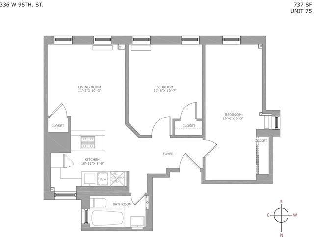 2 Bedrooms, Upper West Side Rental in NYC for $4,154 - Photo 2