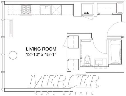 Studio, Hell's Kitchen Rental in NYC for $3,025 - Photo 2