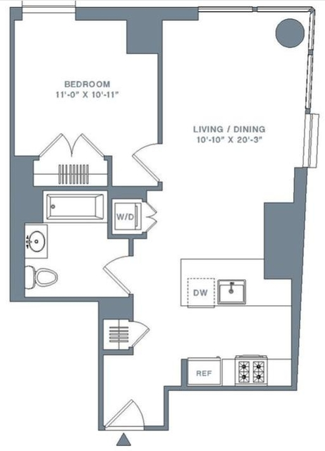 Studio, Financial District Rental in NYC for $4,295 - Photo 2