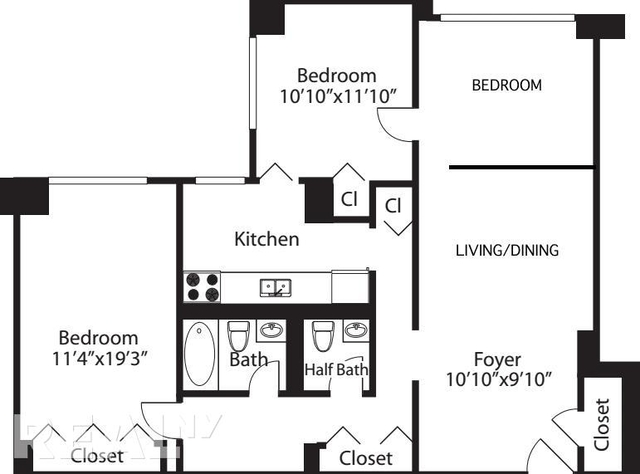 2 Bedrooms, Rose Hill Rental in NYC for $6,199 - Photo 2