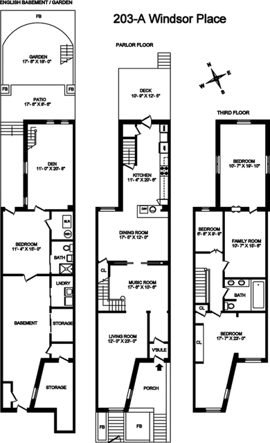 3 Bedrooms, Windsor Terrace Rental in NYC for $9,500 - Photo 2