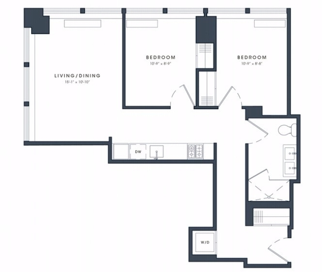 2 Bedrooms, Financial District Rental in NYC for $5,101 - Photo 1