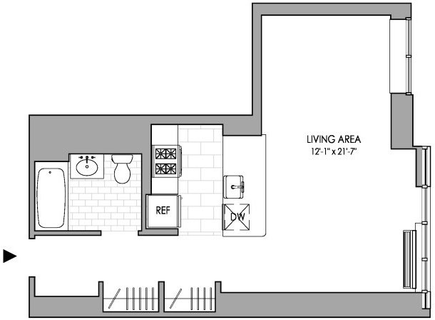 Studio, Hell's Kitchen Rental in NYC for $3,144 - Photo 2
