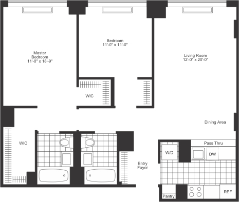 2 Bedrooms, Chelsea Rental in NYC for $6,415 - Photo 2