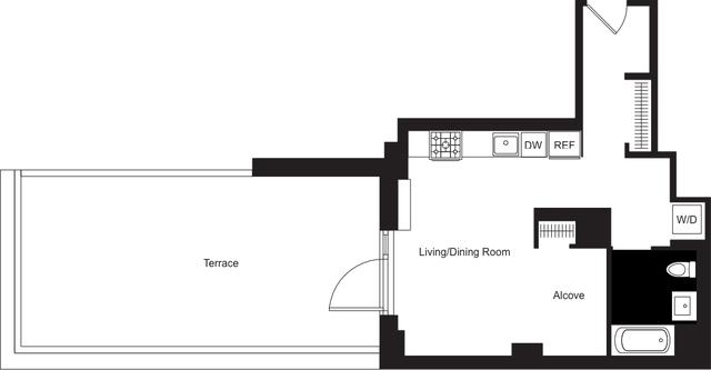 Studio, Hudson Square Rental in NYC for $4,350 - Photo 2