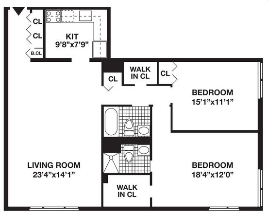 2 Bedrooms, Battery Park City Rental in NYC for $6,205 - Photo 1