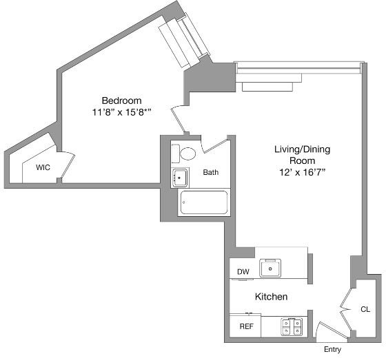 1 Bedroom, Greenwich Village Rental in NYC for $5,195 - Photo 2