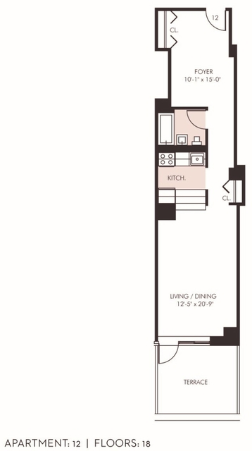 Studio, Financial District Rental in NYC for $3,650 - Photo 2