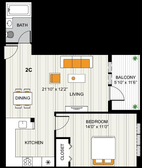 1 Bedroom, Long Island City Rental in NYC for $2,630 - Photo 2