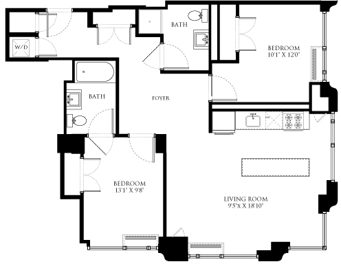 2 Bedrooms, Chelsea Rental in NYC for $6,960 - Photo 1
