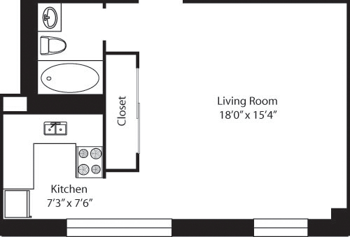Studio, Upper West Side Rental in NYC for $3,083 - Photo 2
