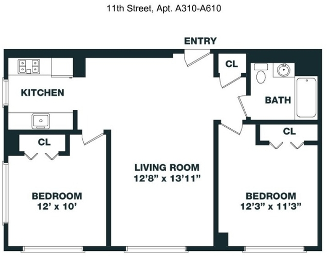 2 Bedrooms, Hunters Point Rental in NYC for $4,095 - Photo 2