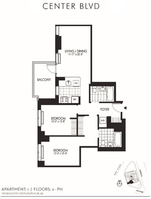 2 Bedrooms, Hunters Point Rental in NYC for $5,307 - Photo 2