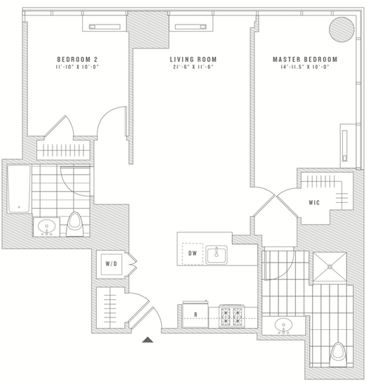 2 Bedrooms, Chelsea Rental in NYC for $7,197 - Photo 2
