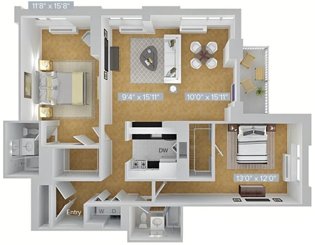 2 Bedrooms, Hunters Point Rental in NYC for $5,651 - Photo 2