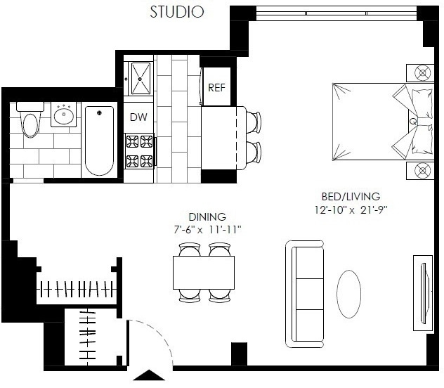 Studio, Turtle Bay Rental in NYC for $3,095 - Photo 2