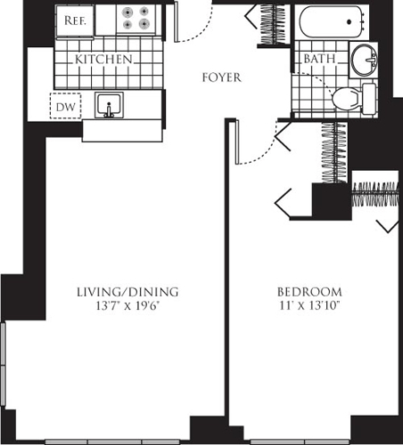 1 Bedroom, Chelsea Rental in NYC for $4,361 - Photo 2