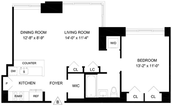 1 Bedroom, Lincoln Square Rental in NYC for $5,531 - Photo 2
