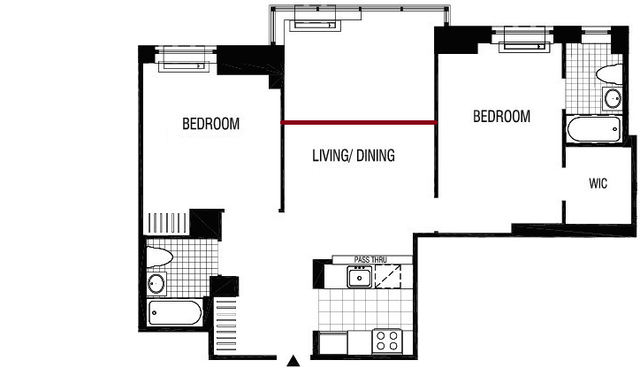 2 Bedrooms, Financial District Rental in NYC for $5,485 - Photo 2