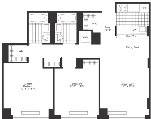 2 Bedrooms, Chelsea Rental in NYC for $6,835 - Photo 2