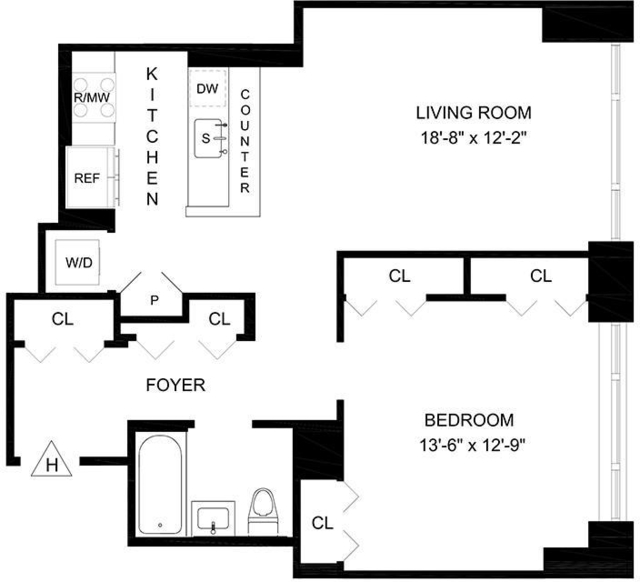 1 Bedroom, Lincoln Square Rental in NYC for $4,551 - Photo 2