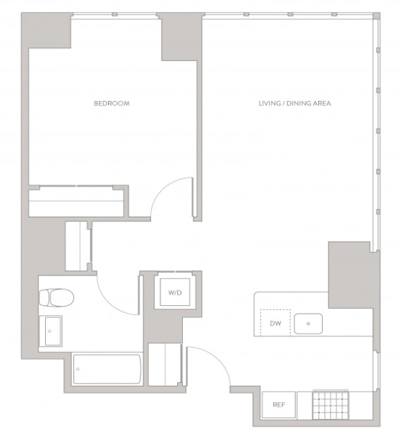 1 Bedroom, Long Island City Rental in NYC for $3,426 - Photo 2
